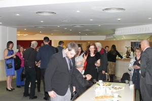 Post ceremony reception, at the British Library conference centre