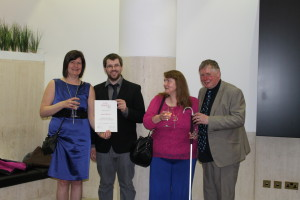 The Edinburgh library winning team